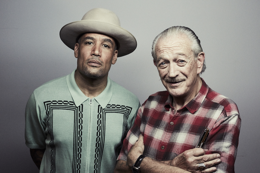 Ben Harper and Charlie Musselwhite press photo
