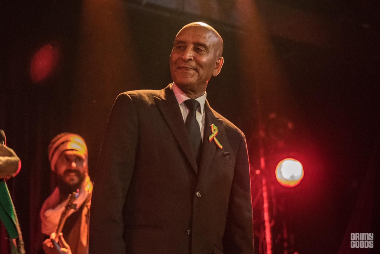 Ayelew Mesfin with Debo Band. Photo Farah Sosa