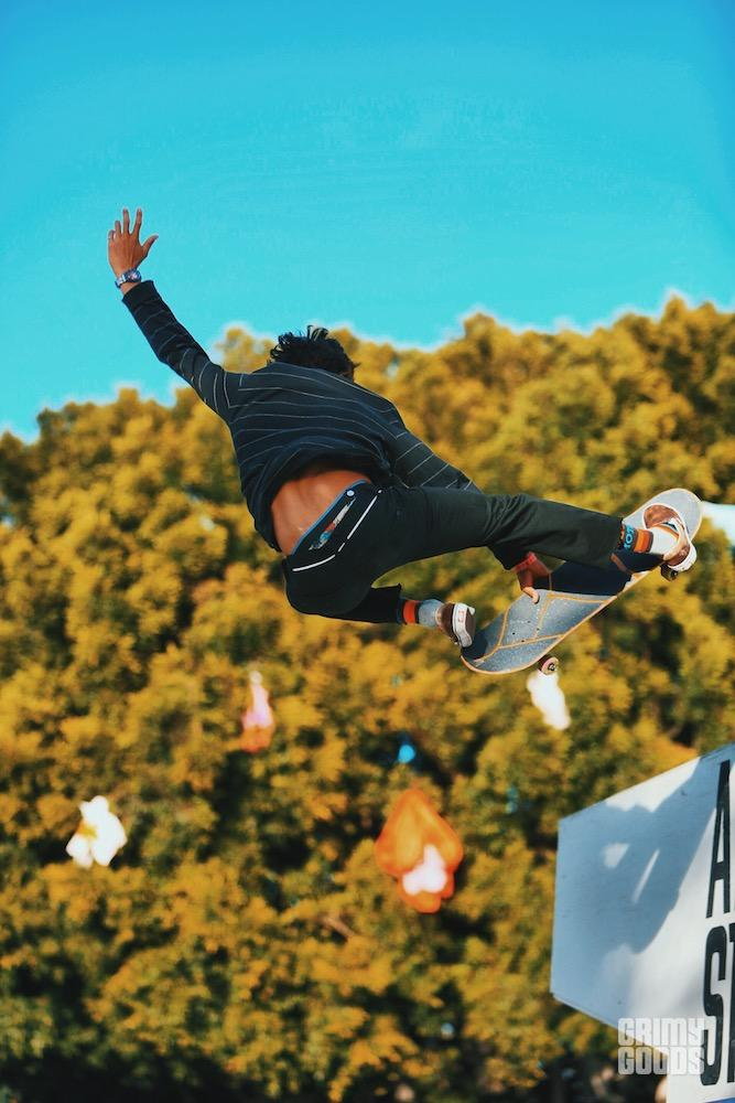 Heimana Reynolds at Air + Style 2018 by Steven Ward
