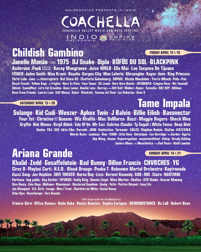 Official Coachella 2019 Lineup