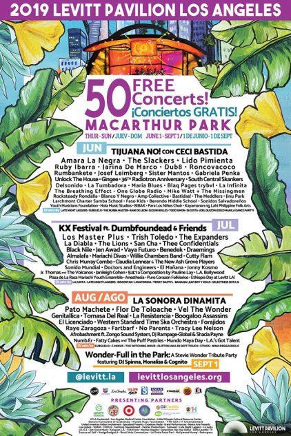 Levitt LA 50 free summer concerts los angeles