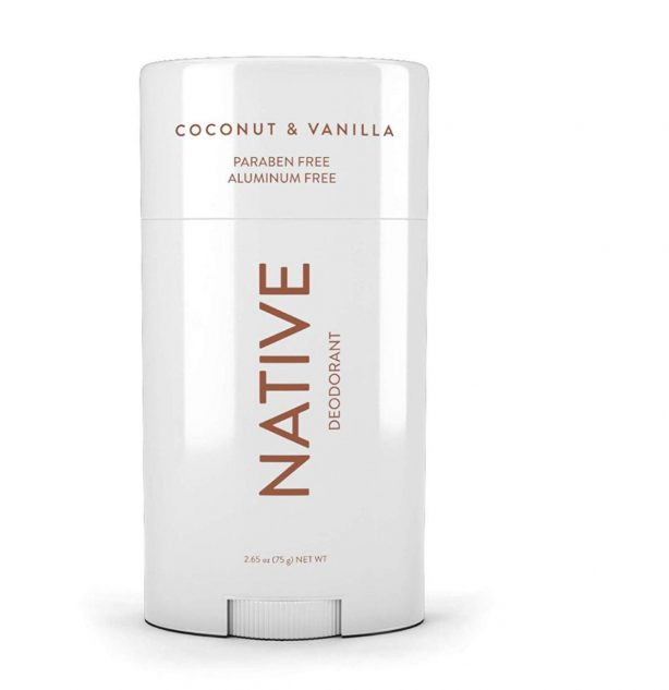 Native Coconut & Vanilla Deodorant - music festival packing list