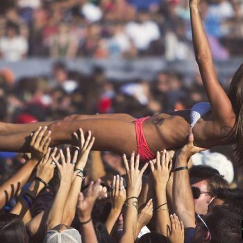 concert crowd crowd surfing